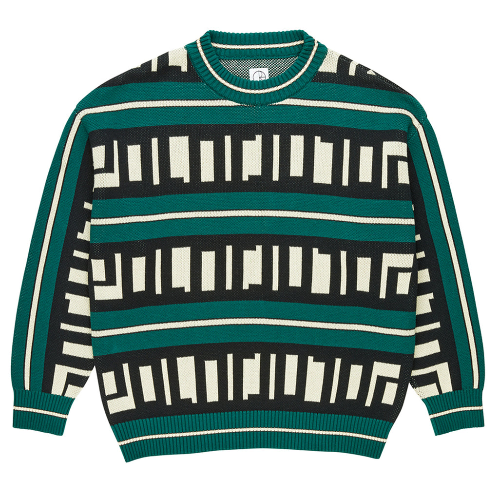 Polar Skate Co Square Logo Sweater in Green
