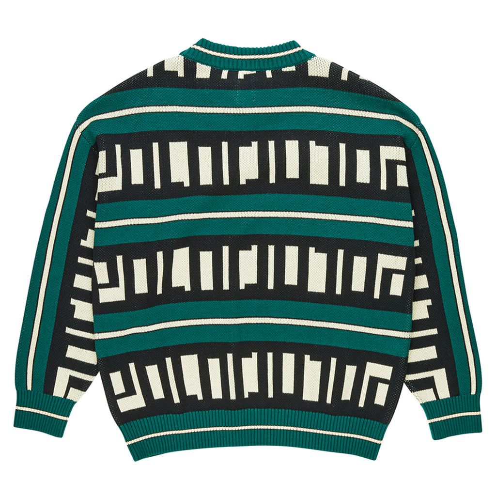 Polar Skate Co Square Logo Sweater in Green - Back