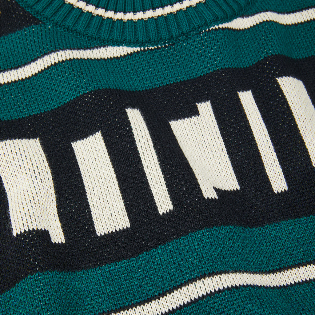 Polar Skate Co Square Logo Sweater in Green - Detail