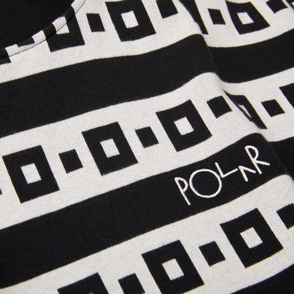 Polar Skate Co Square Stripe Surf T Shirt in Black - Detail