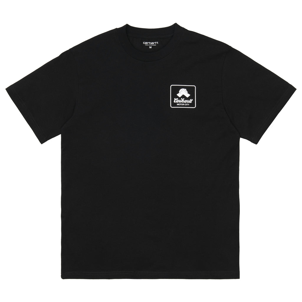 Carhartt WIP Peace State T Shirt in Black / White - Front