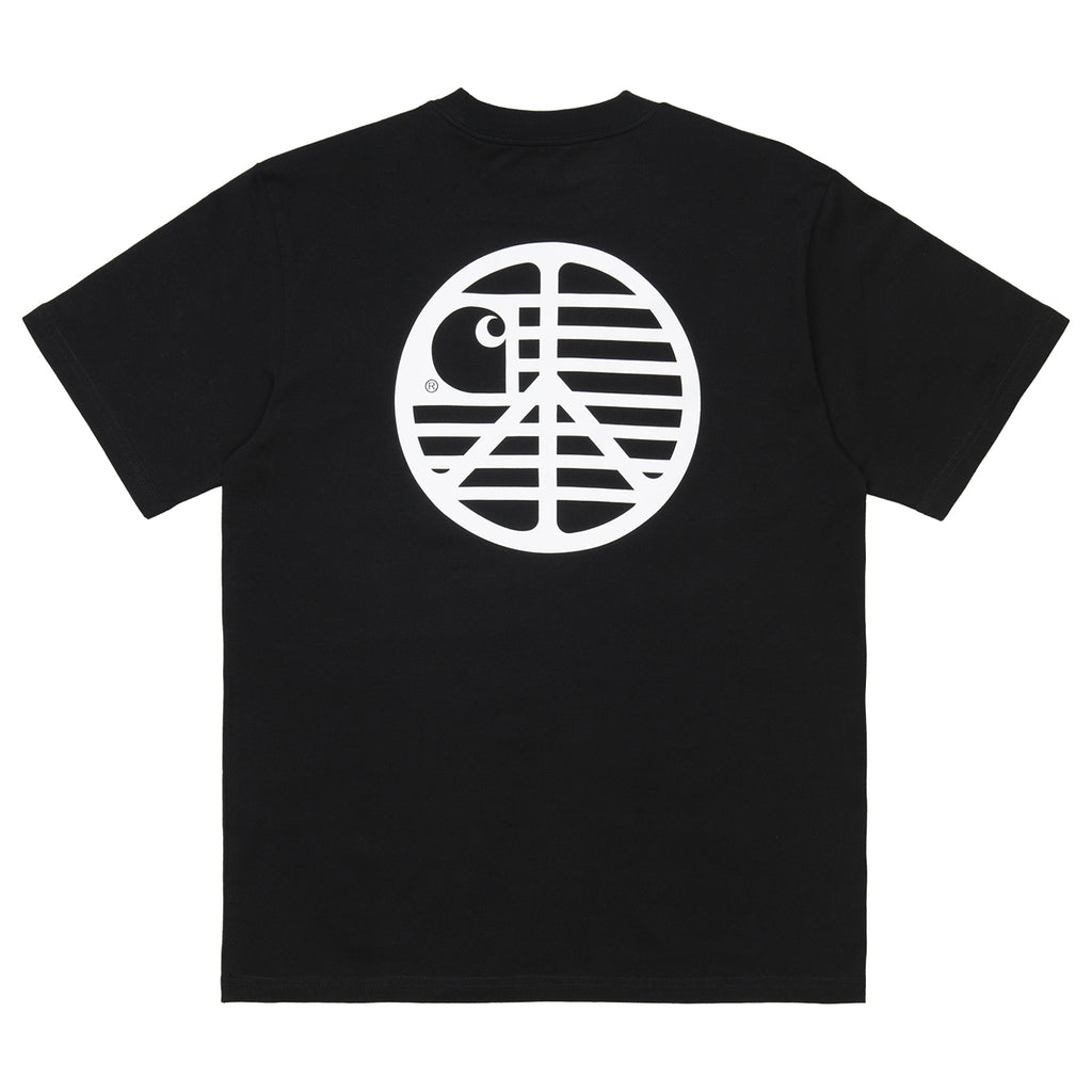 Carhartt WIP Peace State T Shirt in Black / White