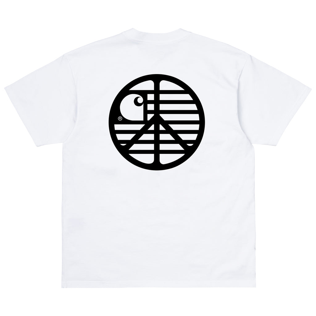 Carhartt WIP Peace State T Shirt in White / Black