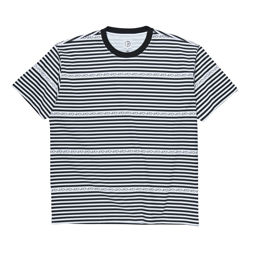 Polar Skate Co Stripe Logo T Shirt in Black