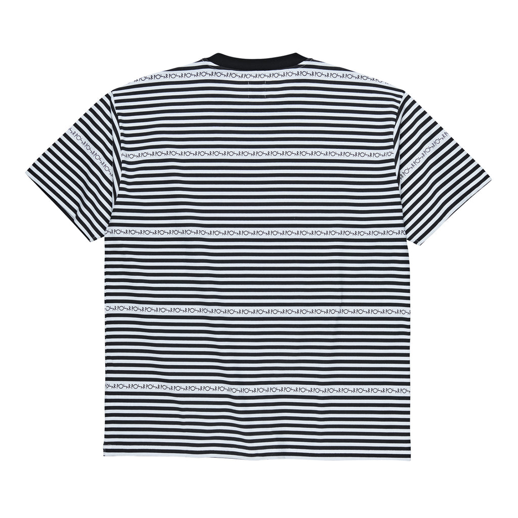 Polar Skate Co Stripe Logo T Shirt in Black - Back