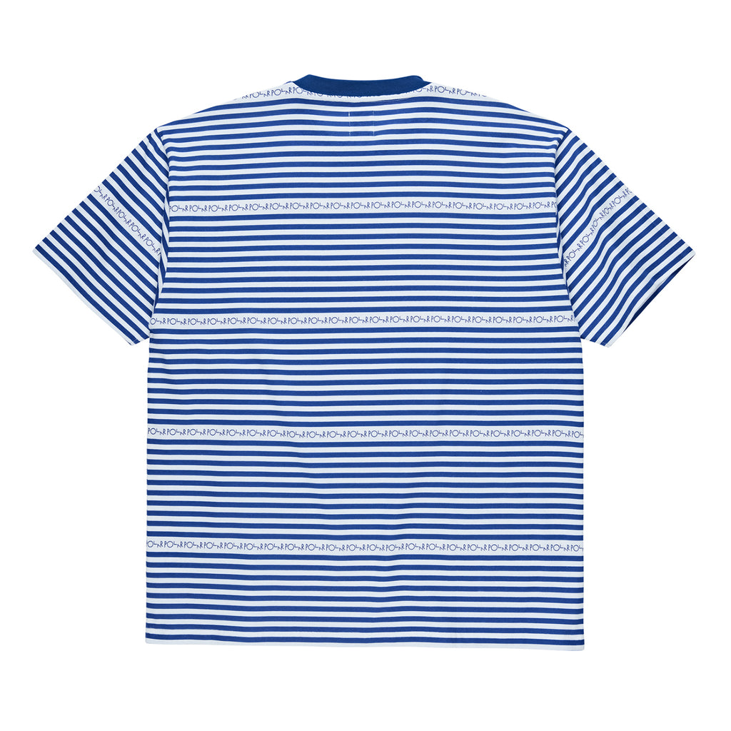 Polar Skate Co Stripe Logo T Shirt in Dark Blue - Back