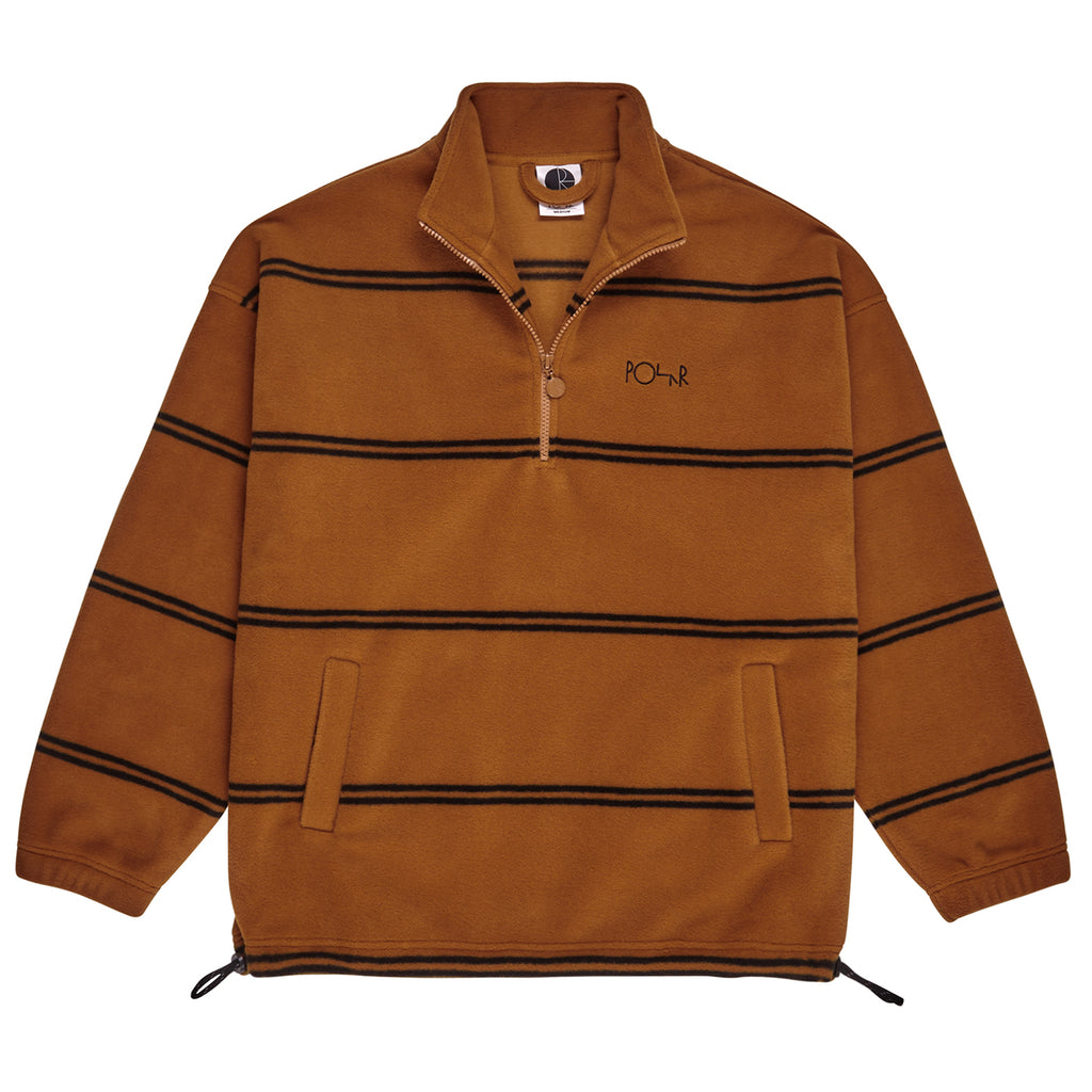 Polar Skate Co Striped Fleece Pullover 2.0 in Caramel