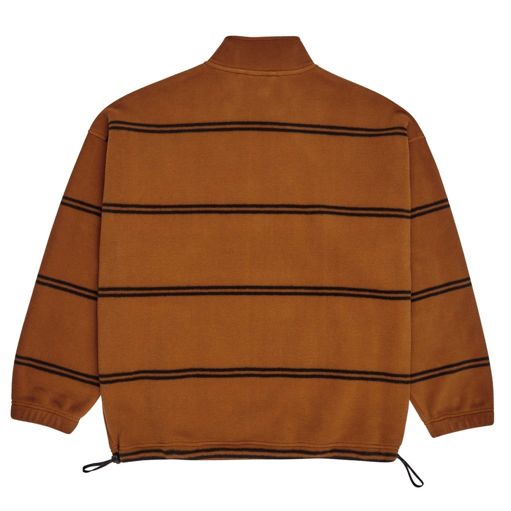 Polar Skate Co Striped Fleece Pullover 2.0 in Caramel - Back