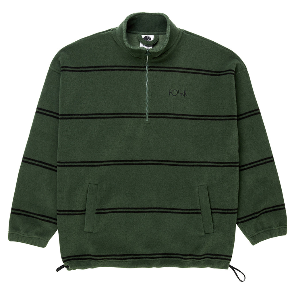 Polar Skate Co Striped Fleece Pullover 2.0 in Olive