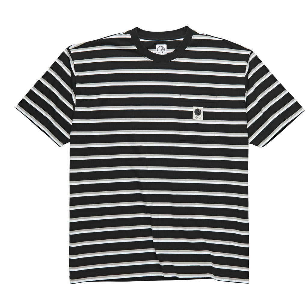 Polar Skate Co Stripe Pocket T Shirt in Black
