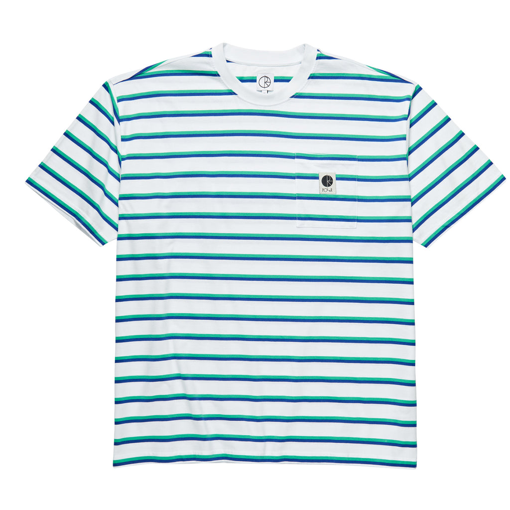 Polar Skate Co Stripe Pocket T Shirt in White