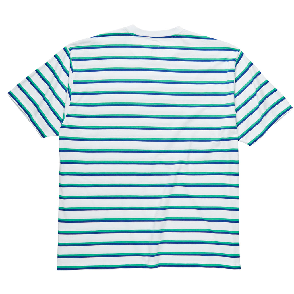Polar Skate Co Stripe Pocket T Shirt in White - Back