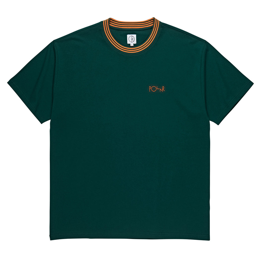 Polar Skate Co Striped Rib T Shirt in Dark Green