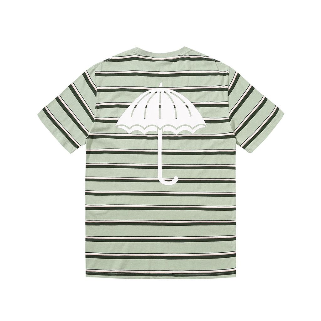 Helas Stripy UMB T Shirt Pastel Green - Backprint