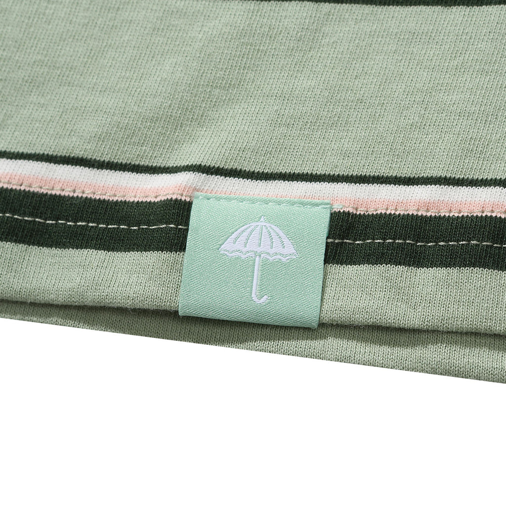 Helas Stripy UMB T Shirt Pastel Green - Flag labelling