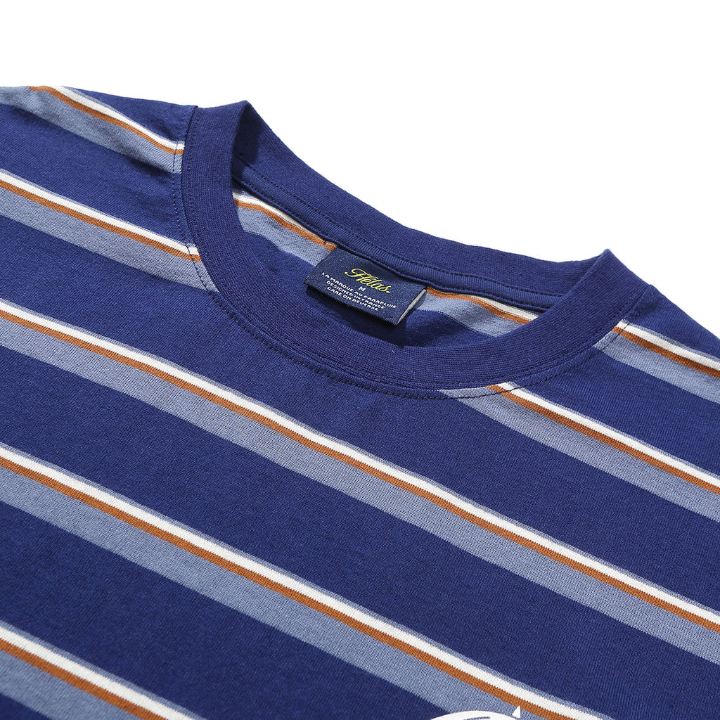 Helas Stripy UMB T Shirt Navy - Neck