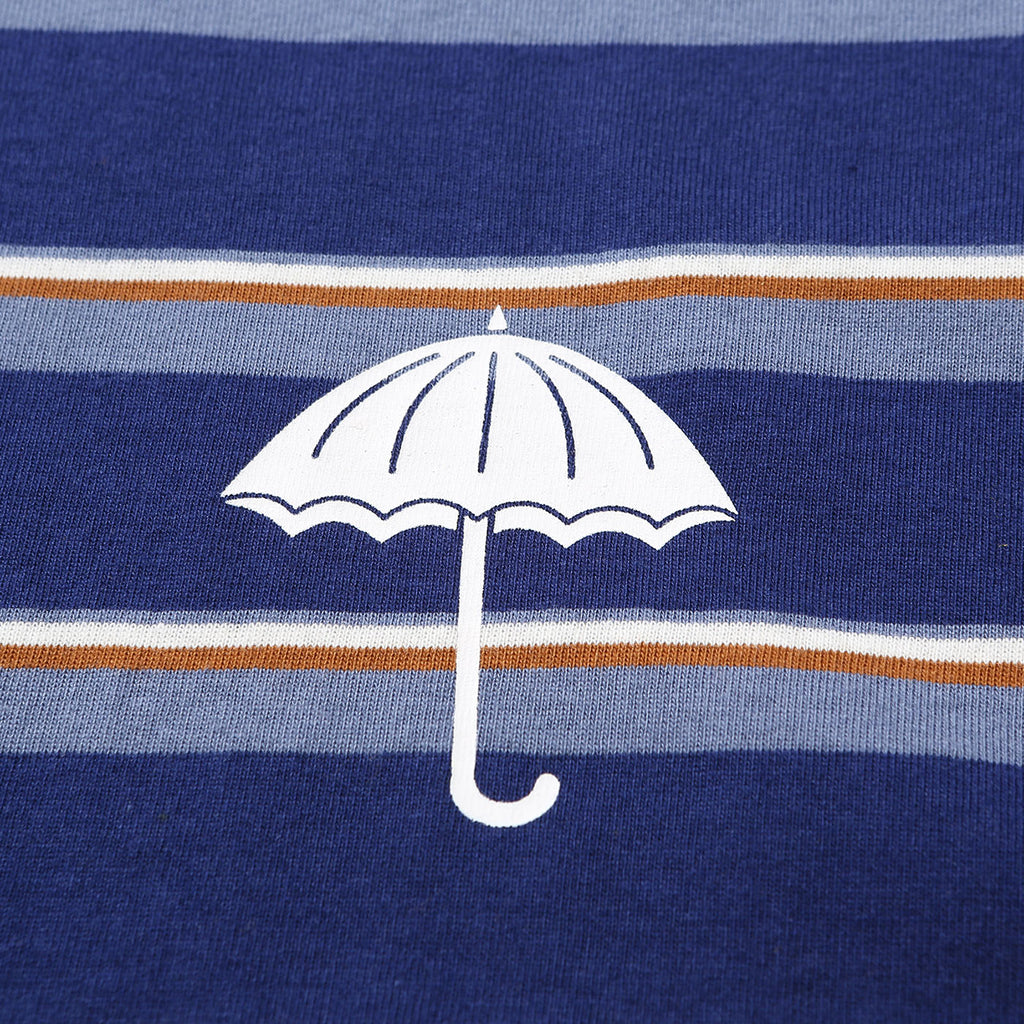 Helas Stripy UMB T Shirt Navy - Breast detail