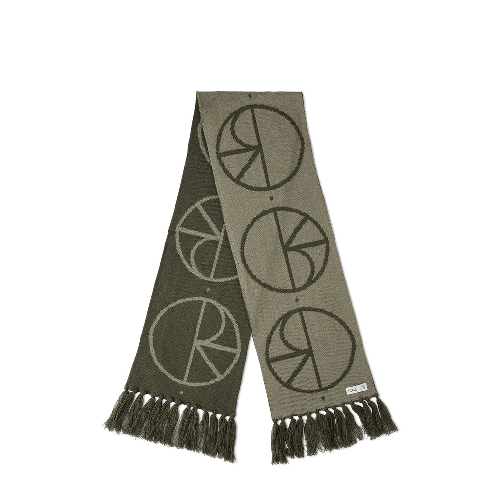 Polar Skate Co Stroke Logo Scarf in Olive