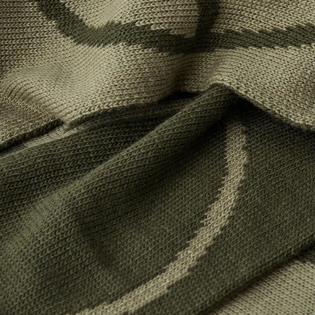 Polar Skate Co Stroke Logo Scarf in Olive - Detail