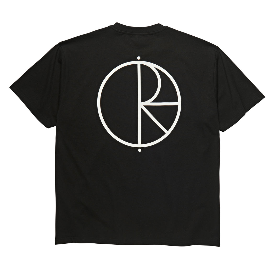 Polar Skate Co Stroke Logo T Shirt in Black / White