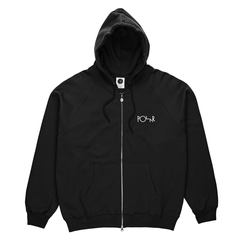 Polar Skate Co Stroke Logo Zip Hoodie in Black