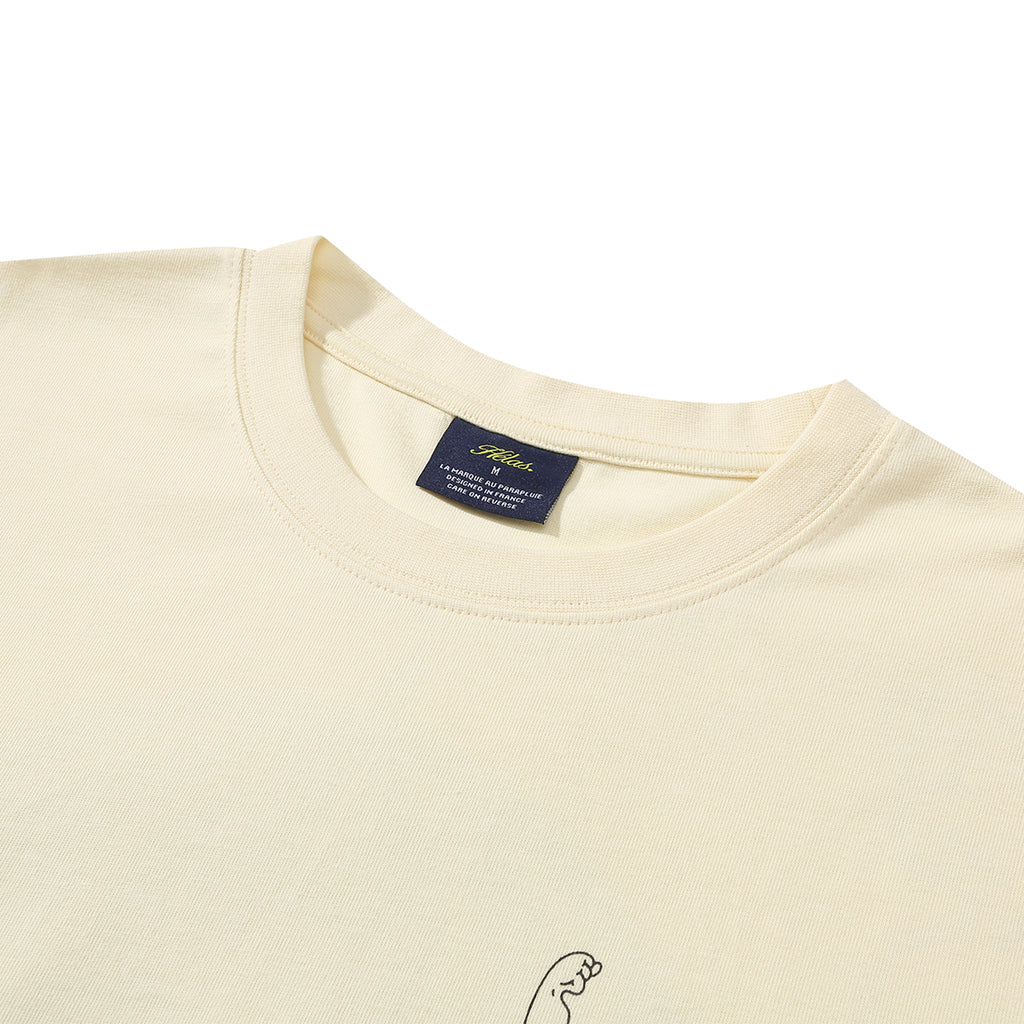 Strong T Shirt in Pastel Yellow by Helas - Neck