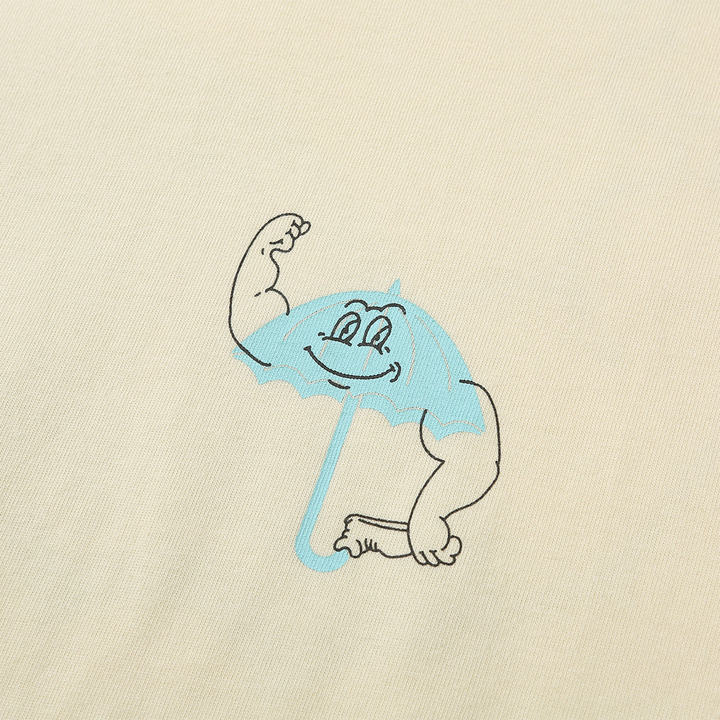 Strong T Shirt in Pastel Yellow by Helas - Chest branding