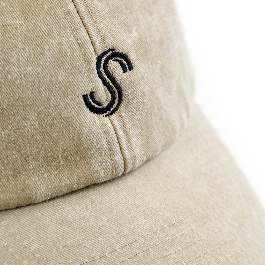 Signature Clothing S Logo Dad Cap in Stone Wash - Embroidery