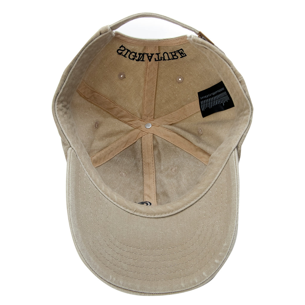 Signature Clothing S Logo Dad Cap in Stone Wash - Inside