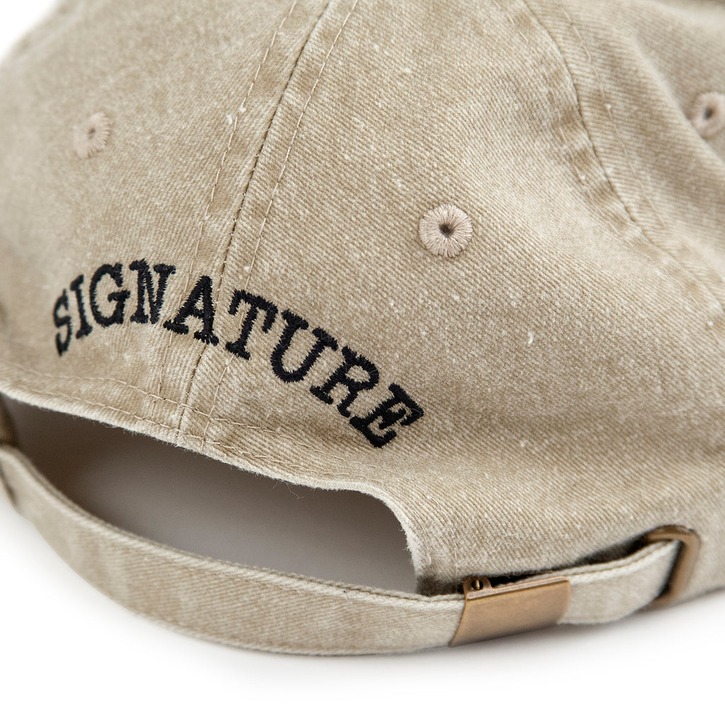 Signature Clothing S Logo Dad Cap in Stone Wash - Back