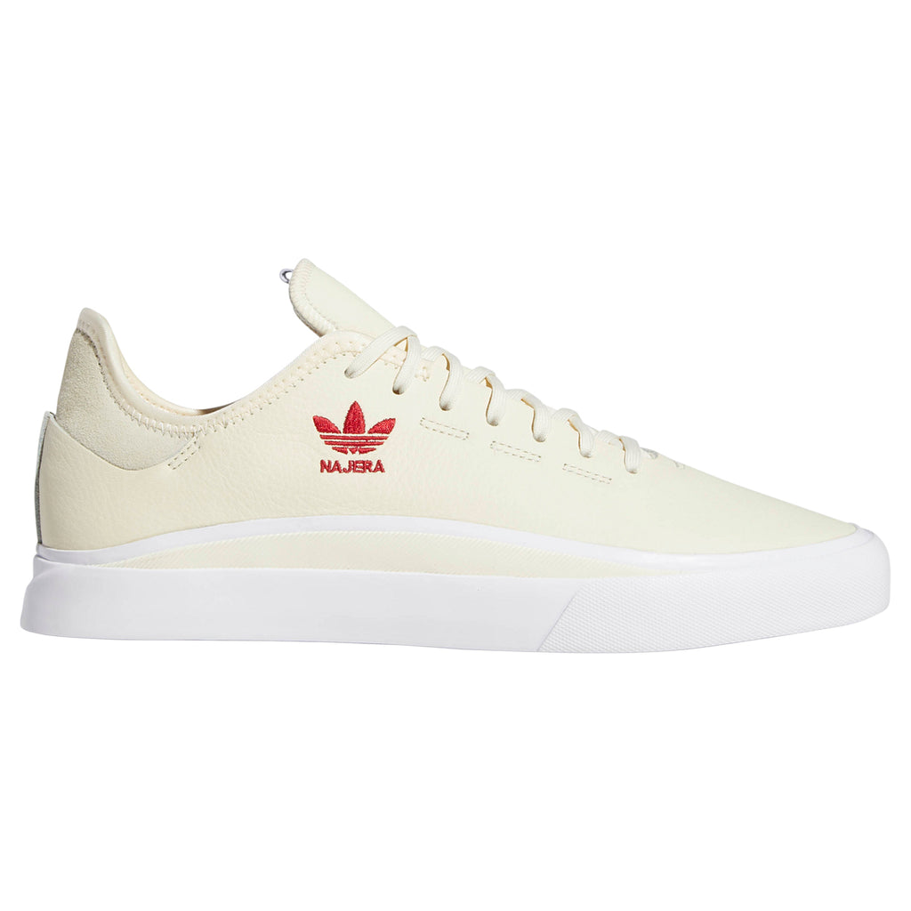 Adidas Skateboarding Sabalo 'Najera' Shoes in Cream White / Footwear White / Power Red