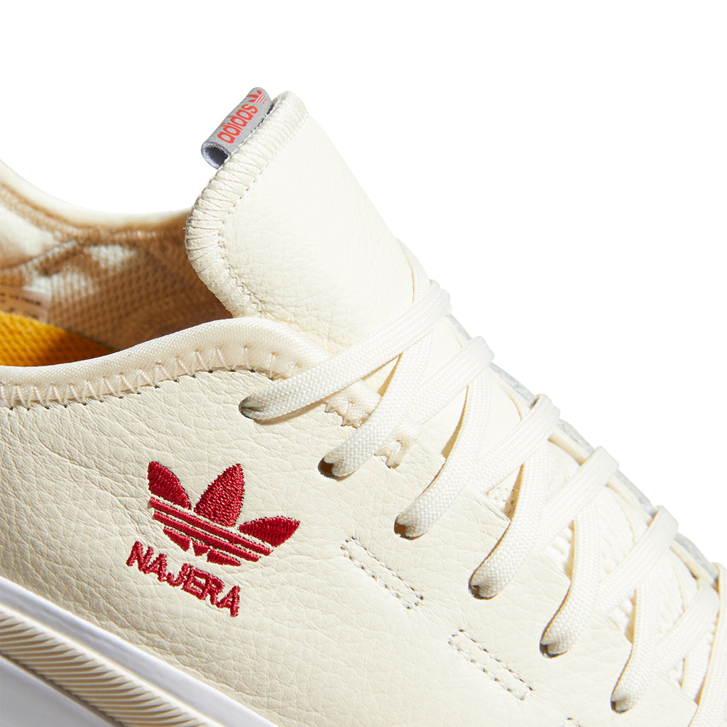 Adidas Skateboarding Sabalo 'Najera' Shoes in Cream White / Footwear White / Power Red - Detail