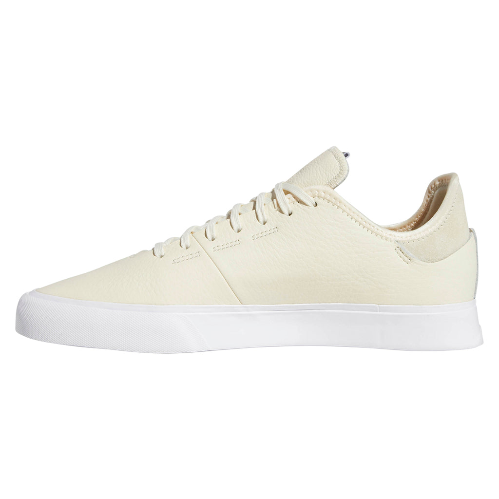 Adidas Skateboarding Sabalo 'Najera' Shoes in Cream White / Footwear White / Power Red - Side