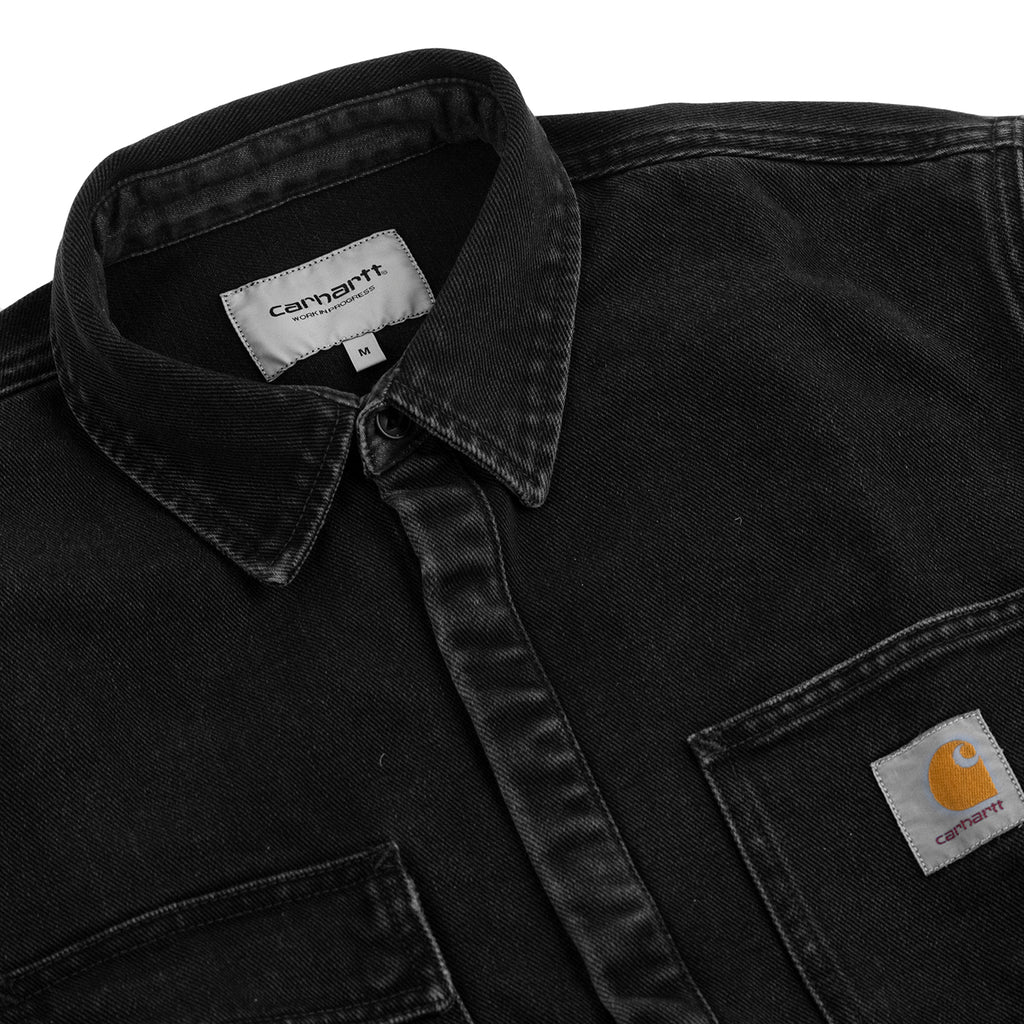 Carhartt WIP Salinac Shirt Jac in Black Stone Washed