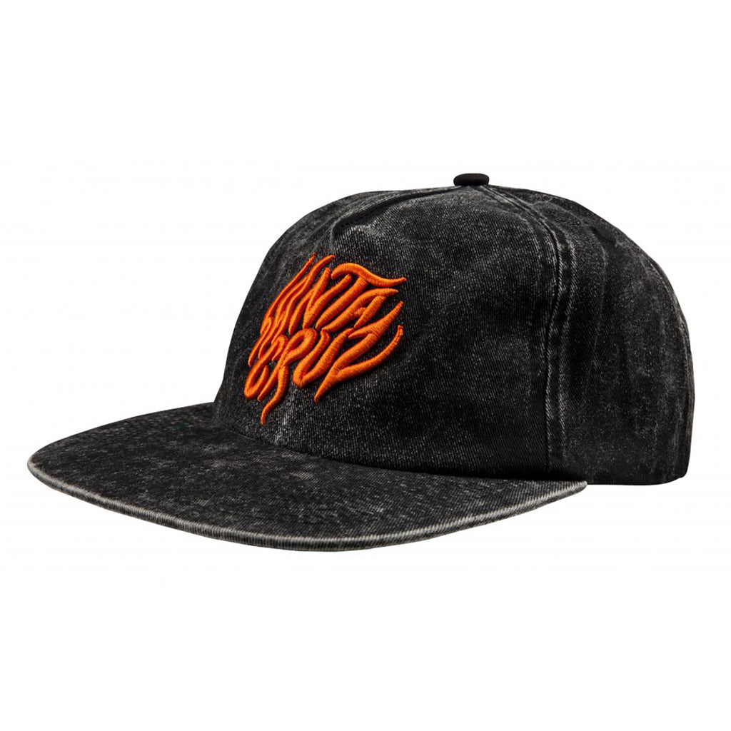Santa Cruz Salba Tiger Cap in Acid Wash Black