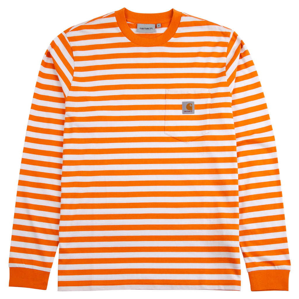 Carhartt WIP L/S Scotty Pocket T Shirt in Clockwork / White