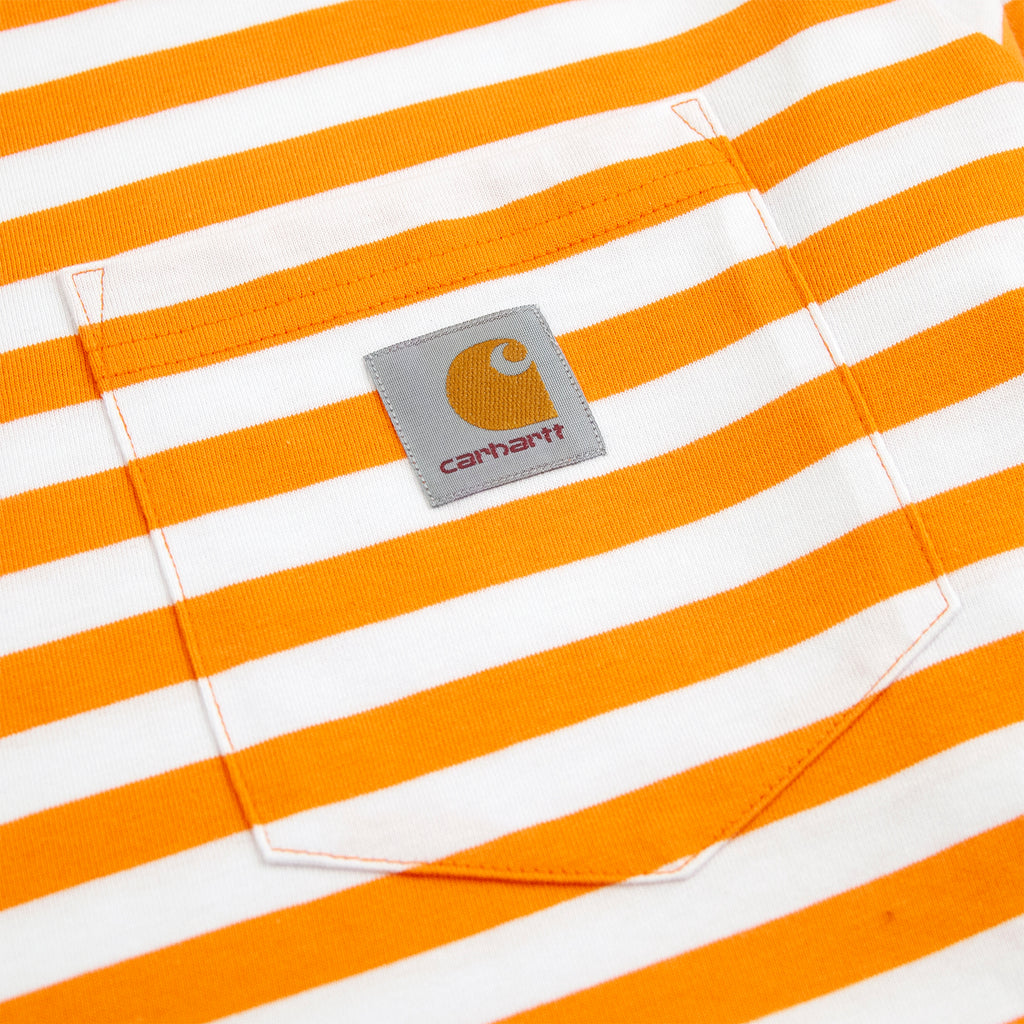 Carhartt WIP L/S Scotty Pocket T Shirt in Clockwork / White - Pocket