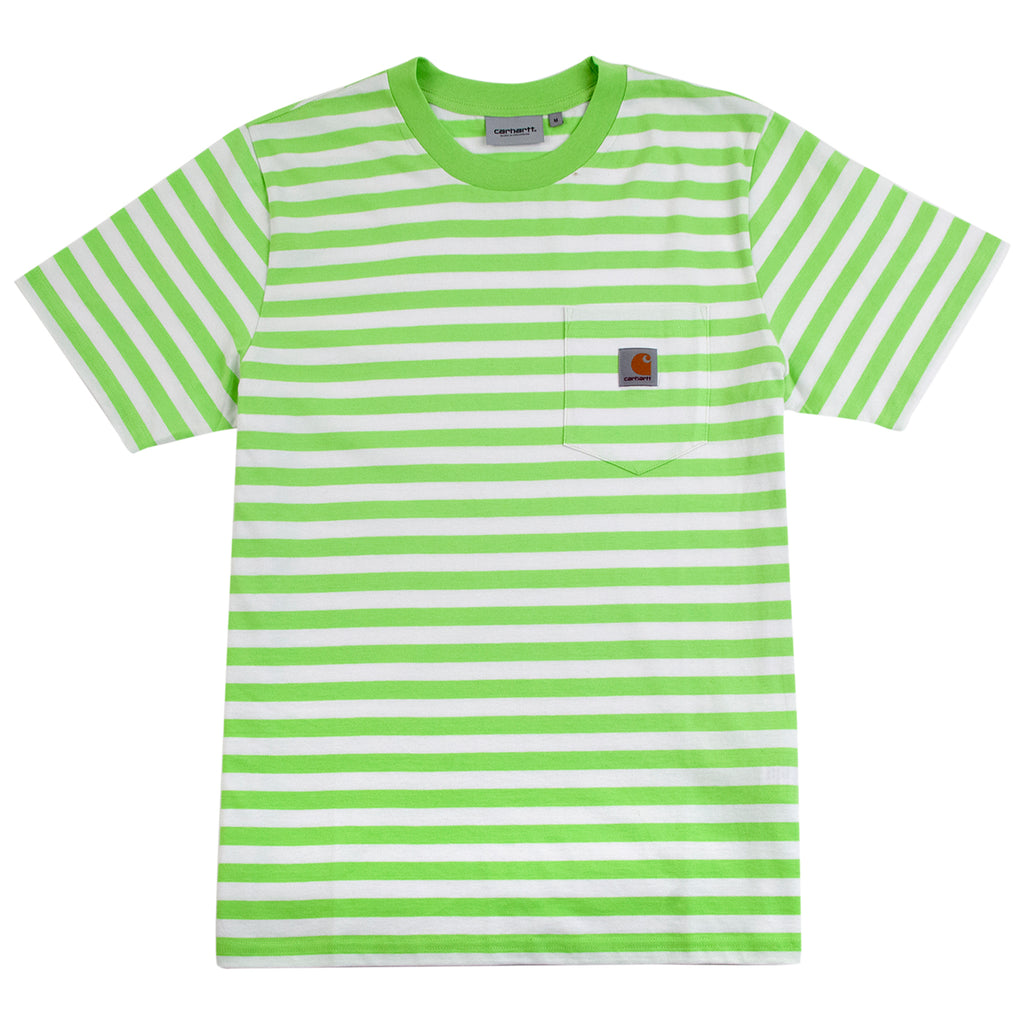 Carhartt WIP Scotty Pocket T Shirt in Lime / White