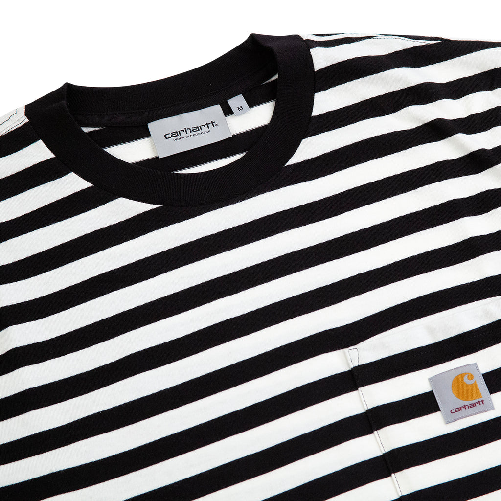 Carhartt WIP Scotty Pocket T Shirt in Black / White - Detail