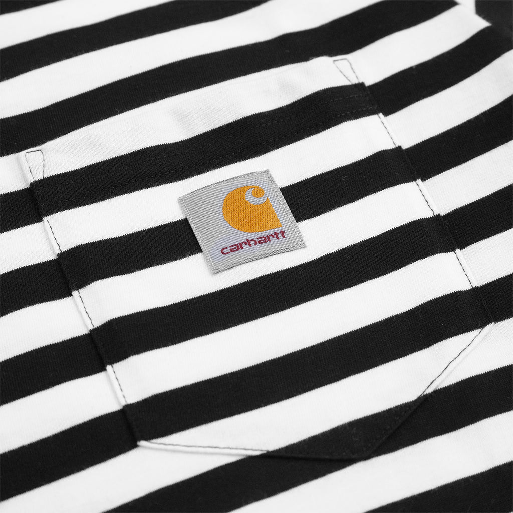 Carhartt WIP Scotty Pocket T Shirt in Black / White - Pocket