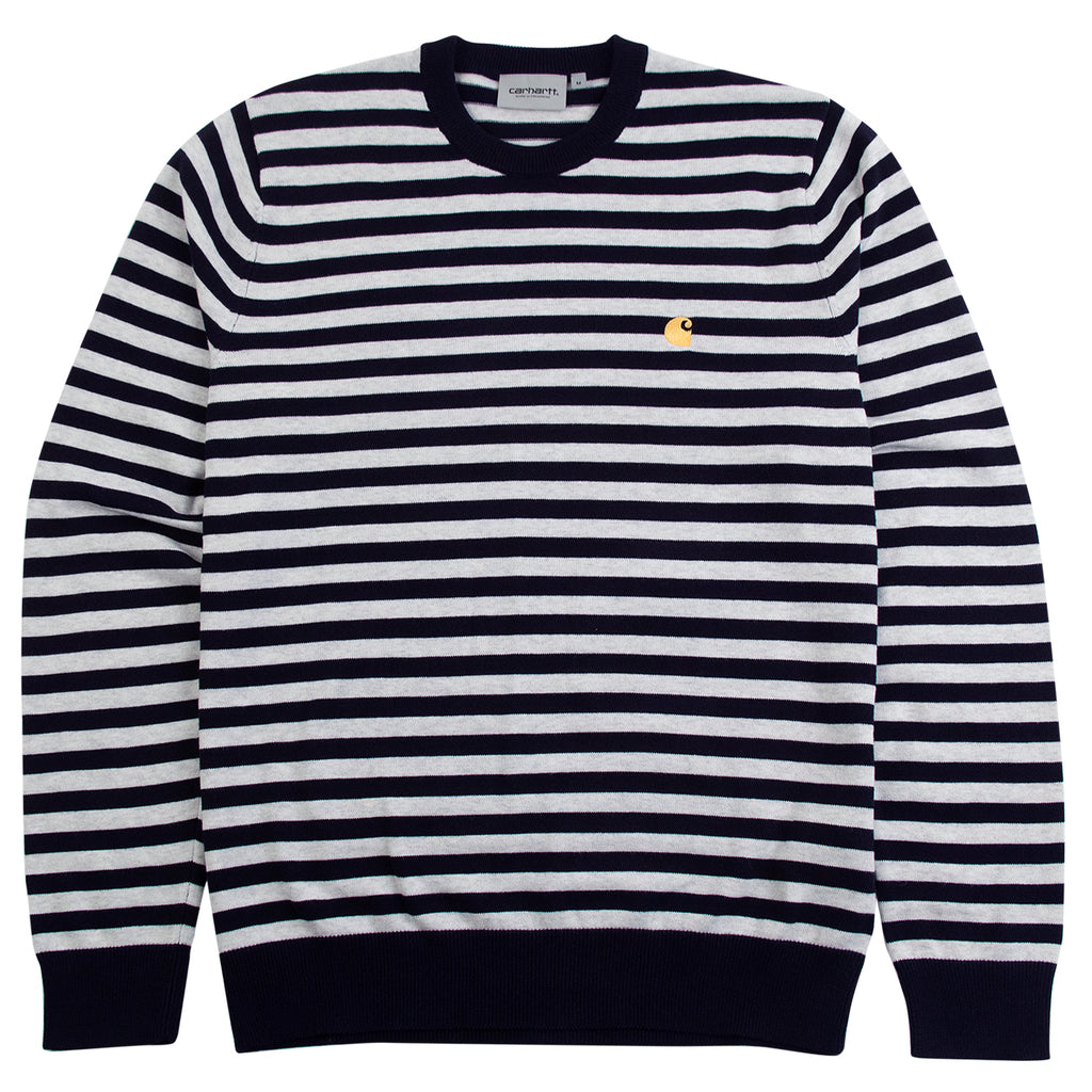 Carhartt WIP Scotty Sweater in Dark Navy / Ash