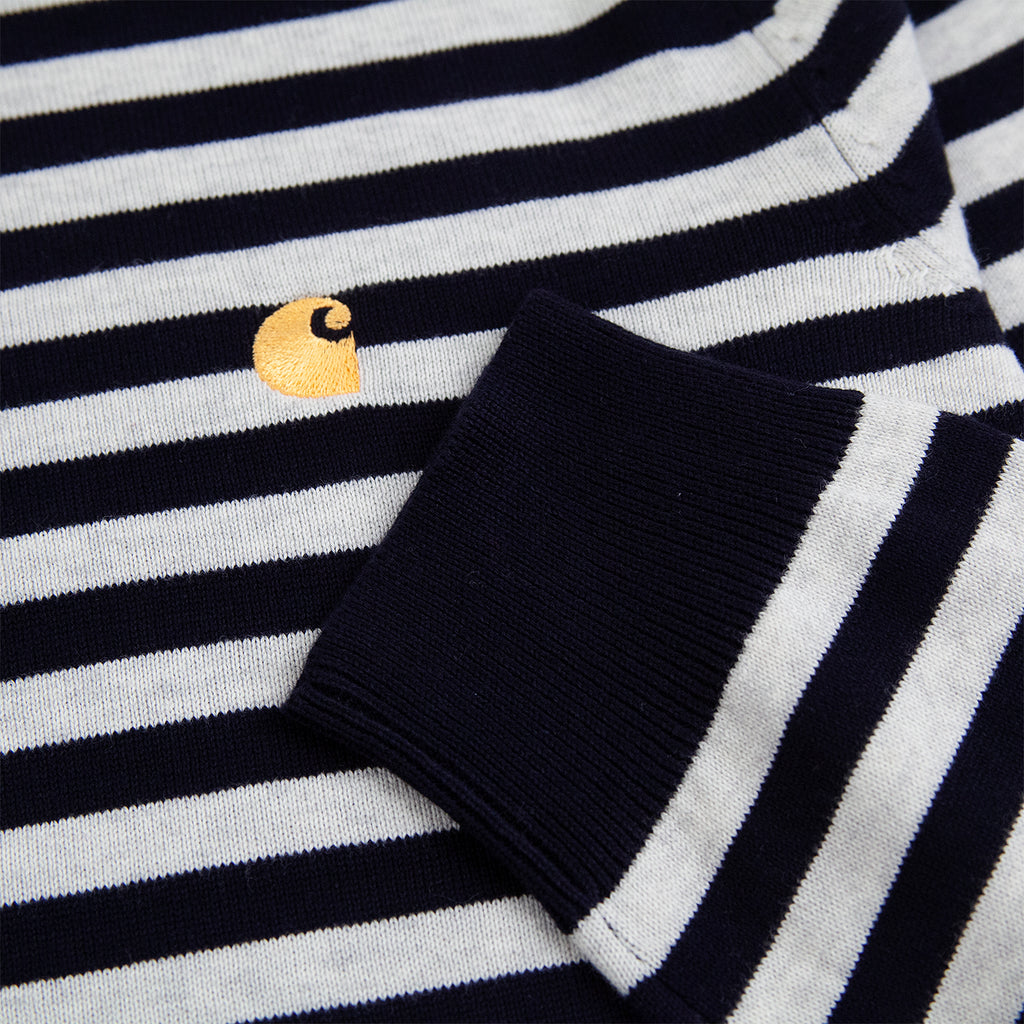 Carhartt WIP Scotty Sweater in Dark Navy / Ash - Cuff