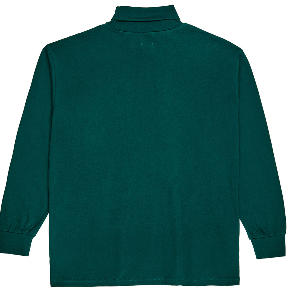 Polar Skate Co Script Turtleneck in Dark Green - Back