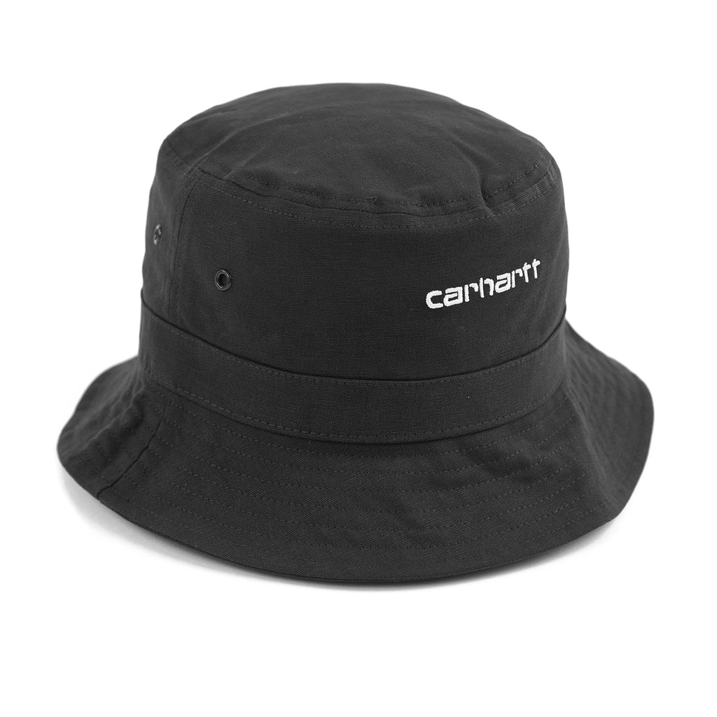 Carhartt WIP Script Bucket Hat in Black / White