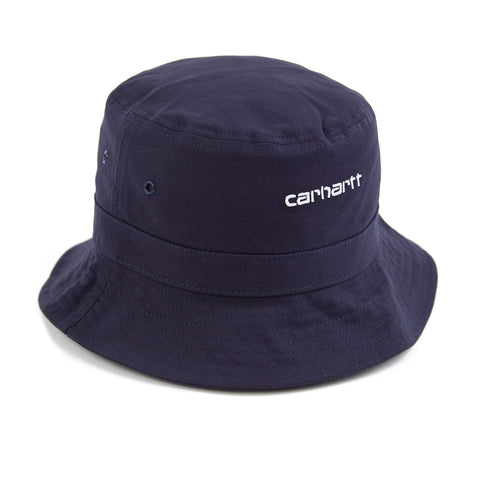 14b526390b3 Carhartt Script Bucket Hat - Dark Navy   White