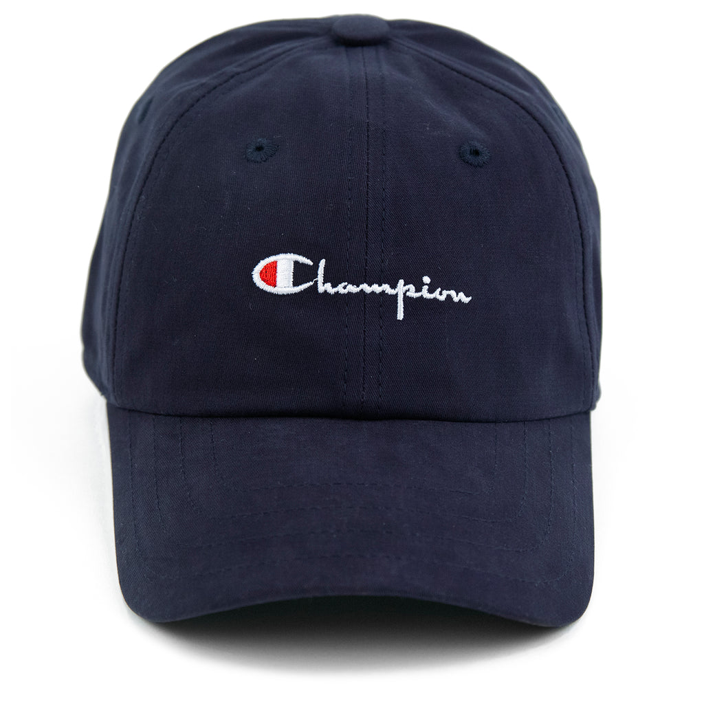 Champion Reverse Weave Baseball Cap in Black - Front