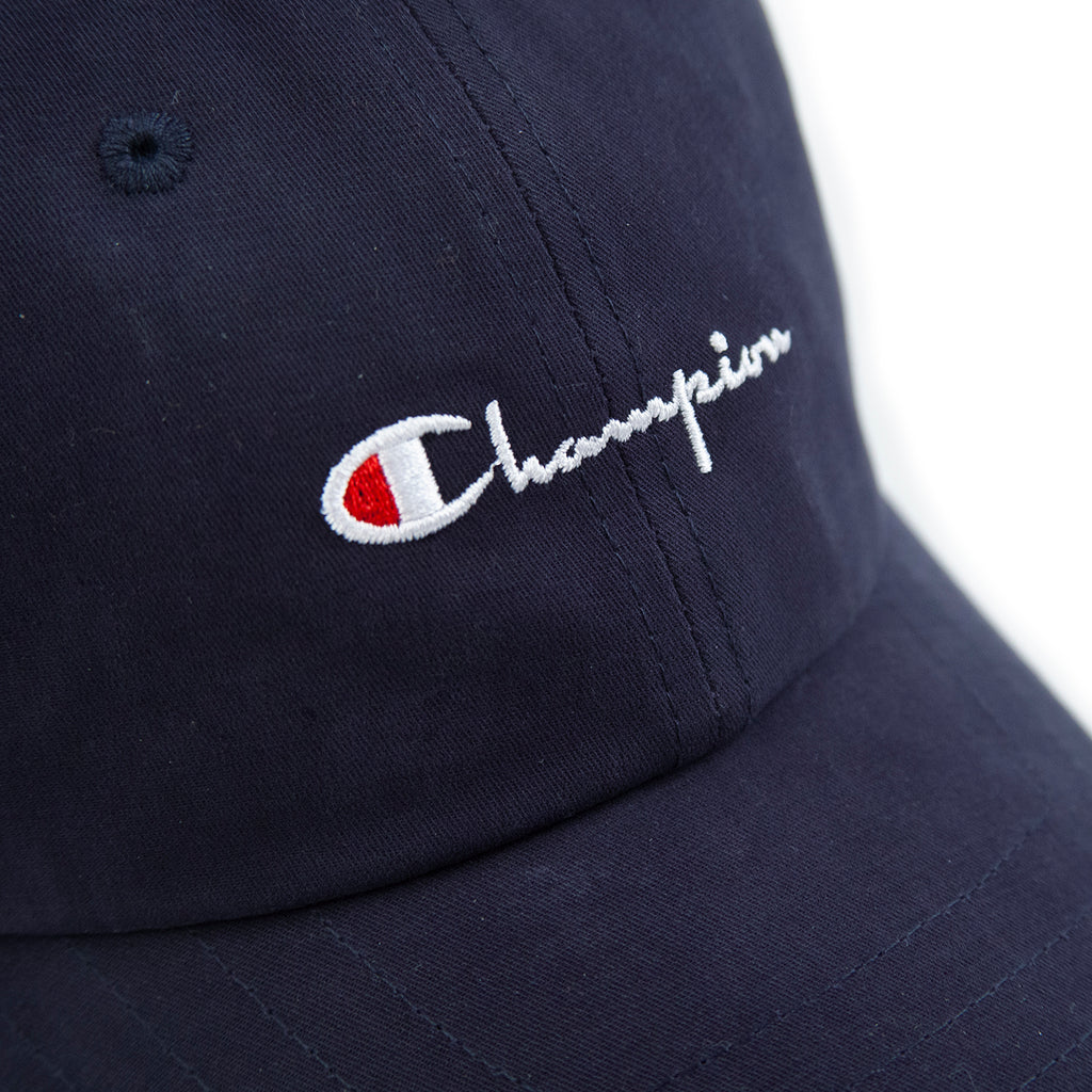 Champion Reverse Weave Baseball Cap in Black - Detail