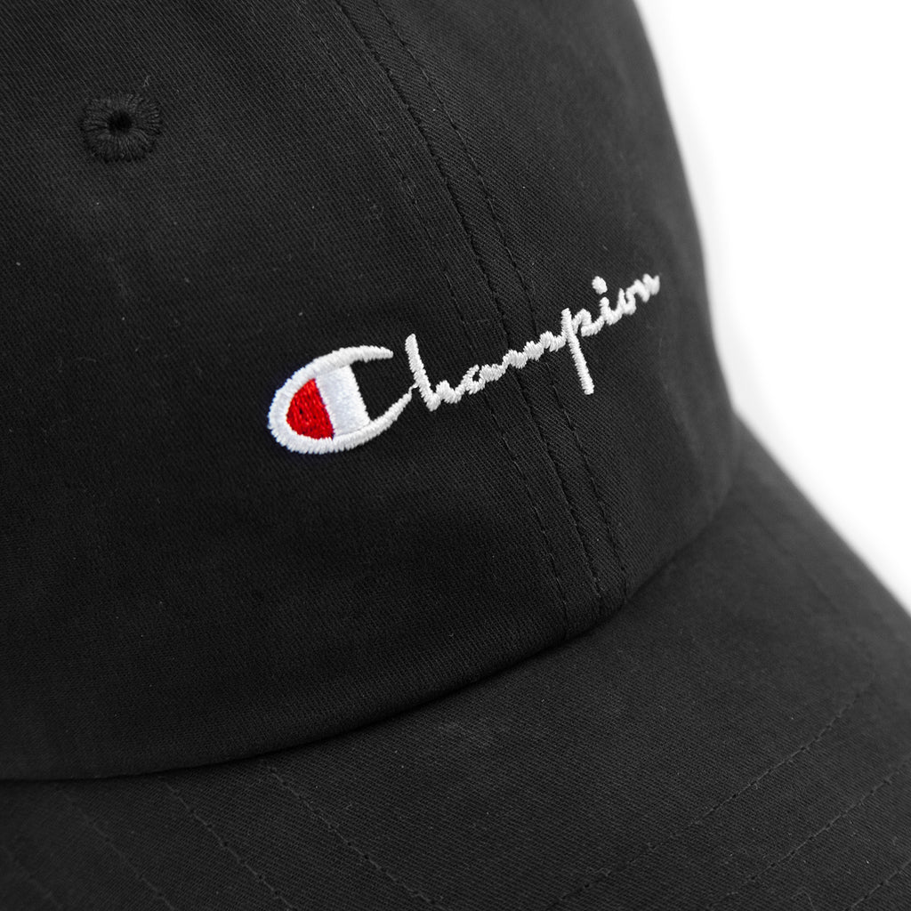0d6ed8edeb718 Champion Reverse Weave Baseball Cap in Black - Embroidery