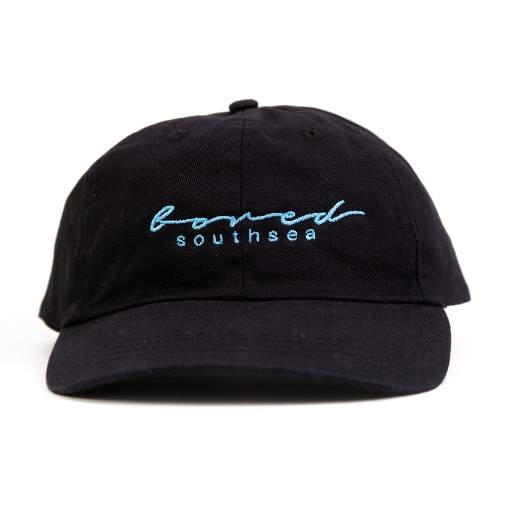 Bored of Southsea Script Cap in Black - Front