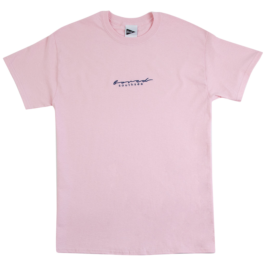 Bored of Southsea Script T Shirt in Pink